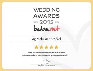 Ganadores del premio a los mejores proveedores del año en Transporte para bodas en Zaragoza