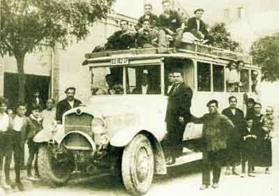 Autobús transportes antiguo AGREDA AUTOMOVIL