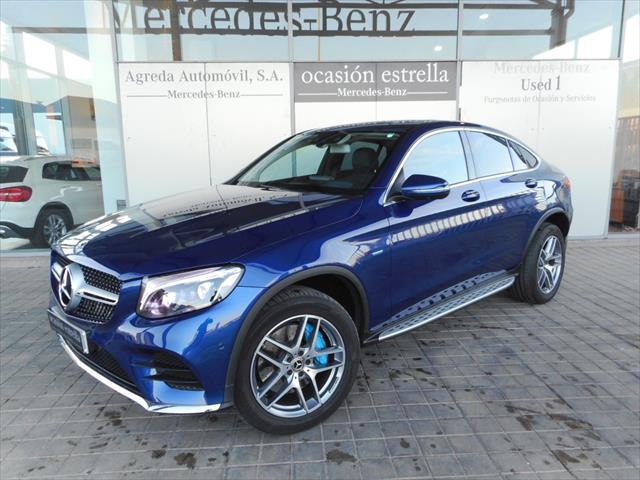 amenaza Memorándum comunicación  Mercedes Benz GLC 350 E 4MATIC COUPE de segunda mano, S. Plomo Azul  Brillante del 2017 con 5.100 km en Zaragoza